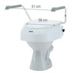 REHAUSSEUR WC REGLABLE AVEC ACCOUDOIRS+ ABATTANT